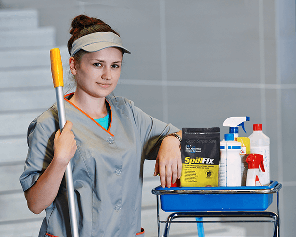 Hospital janitorial staff